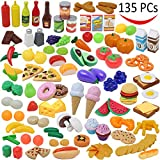 Play Food Set 137 Pieces Play Kitchen Set, Market Educational Pretend Play Food, Toddlers Inspires Imagination, Children Pretend Food Toys and Kid Food Playset Toys by Joyin Toy