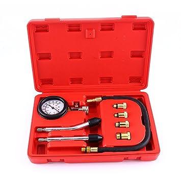 GOTOTOP 0-300psi/0-20bar Profesional Kit de Probador de Compresión de Cilindro