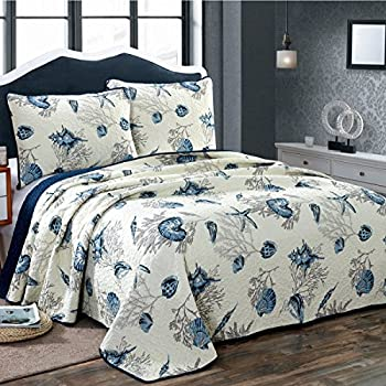 Amazon Com Alicemall Ocean Theme Bed In A Bag Blue Shell