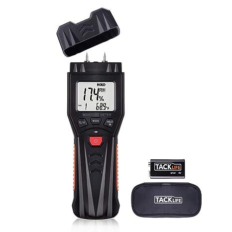 Moisture Meter, Digital Damp Meter Detector with 7 Modes, LCD Backlight, Data Hold