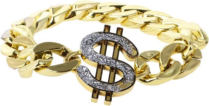 Fenteer Conjunto de Joyas de Dólar Estadounidense de Oro Disfraz ...
