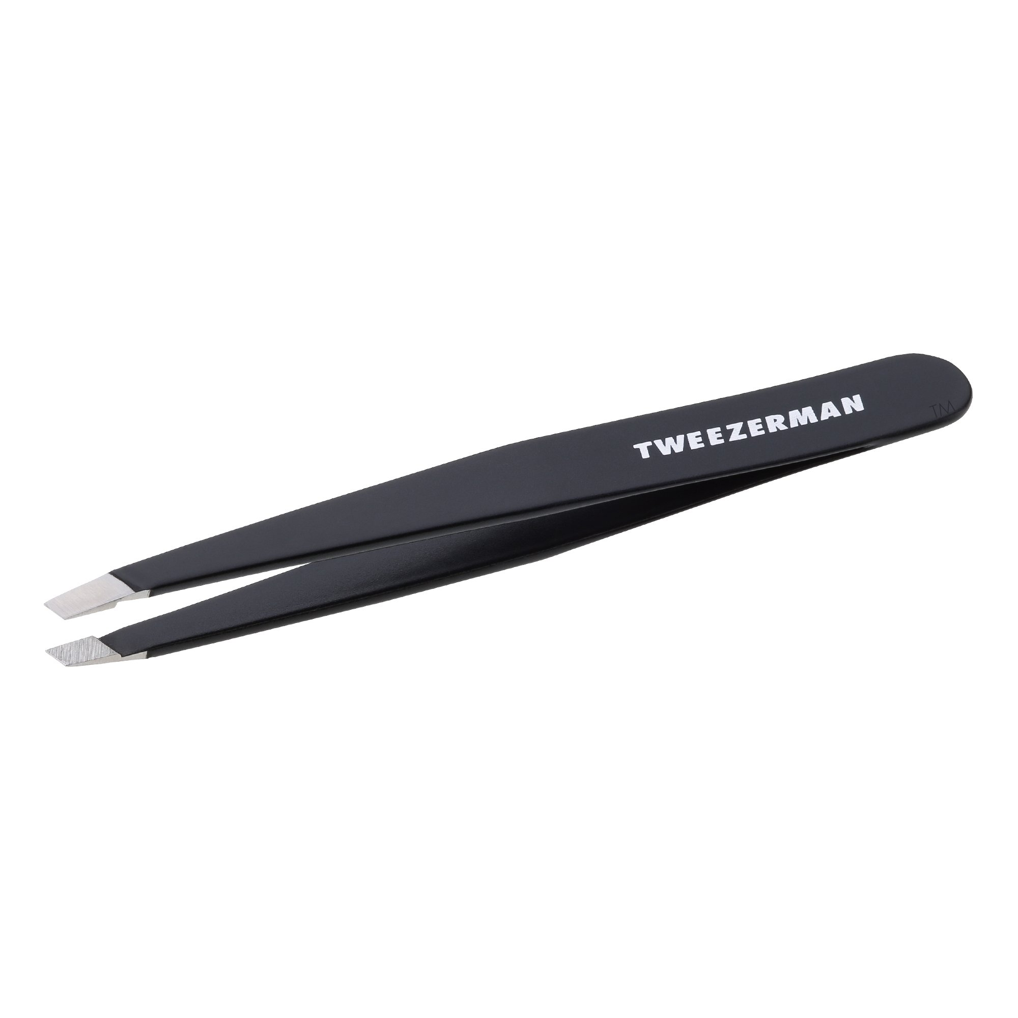 Tweezerman Stainless Steel Slant Tweezer (Black)