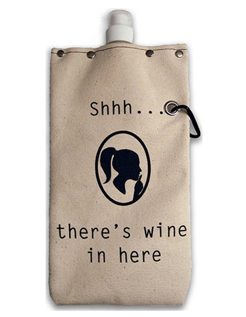 お手頃価格 Totable Canvas Canteen Canteen Flask B07CYGHYTH ワインと飲み物用 750ml In (25オンス) 容量 - Shhh.There's Wine In Here B07CYGHYTH, ELLY タオル館:0b5227ee --- a0267596.xsph.ru