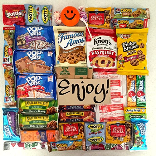 Ultimate Snack Pack Care Package Cookies, Chips & Candies Bundle Variety Sampler 40 Items College Office Military Gift Variety Assortment Selection