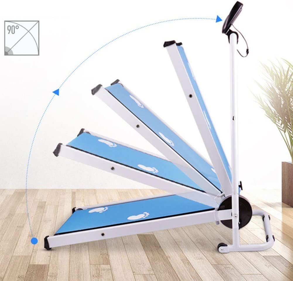 For Home Walking Machine Sport Fitness Training TWTW Mechanical Foldable Treadmill,Portable Running Jogging Machine Multifunctional Mini Walking Machin Weight Loss Mute Blue.