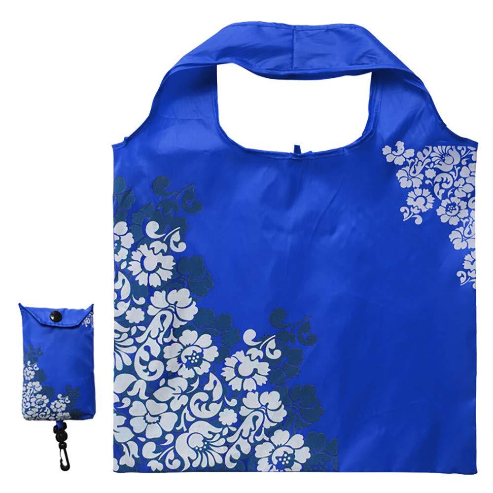 超格安価格 Opromo軽量青と白の磁器折り畳み式再利用可能な食料品バッグ 折り畳み式ショッピングバッグポケット 5色に収まる - ブルー - - ブルー 100 点入り B07G6Z2C6G ブルー ブルー, MJSOFTat楽天:176f145e --- arianechie.dominiotemporario.com