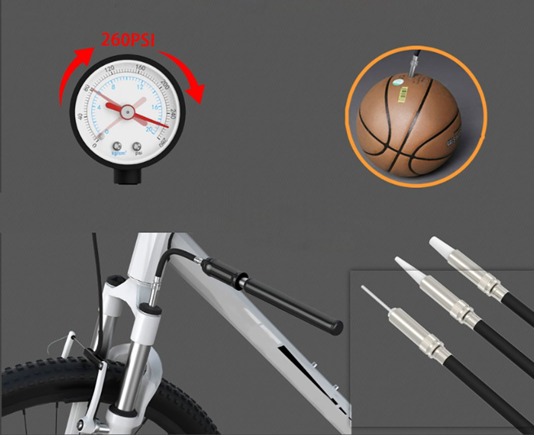 Fansport Bicycle Pump Portable Bike Pump Mini Practical Bike Inflator Hand Pump Bicycle Air Pump by Fansport (Image #5)