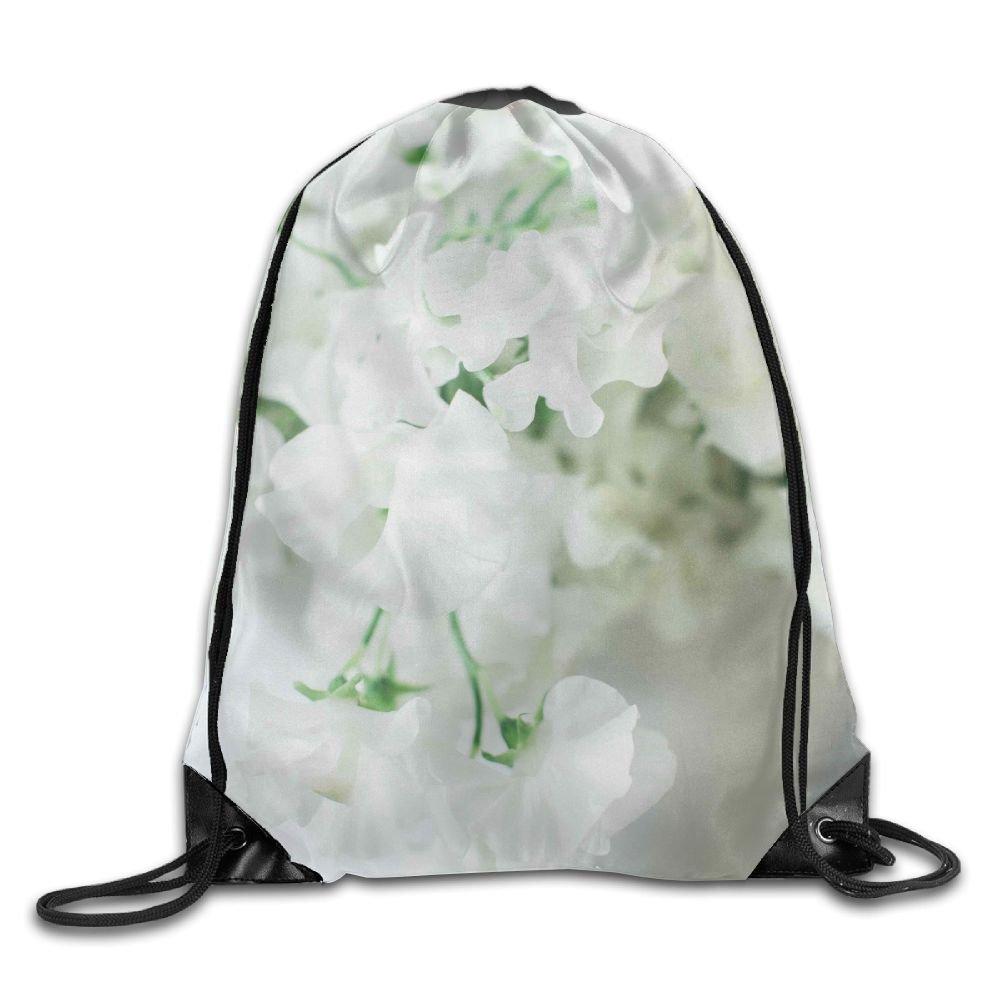 OLGCZM White Flowers For The Wedding.jpeg Drawstring Backpack Bag Shoulder Bags Gym Bag For Adult