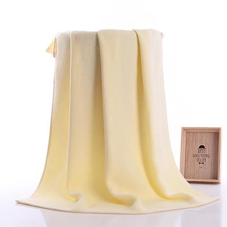 bescita 34 * 75 cm algodón suave cara flor toalla de fibra de bambú toallas de