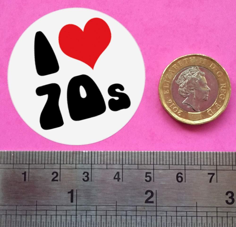 45mm diameter 1970s FANCY DRESS PARTY ACCESSORY Ozorath SEVENTIES DISCO STICKERS