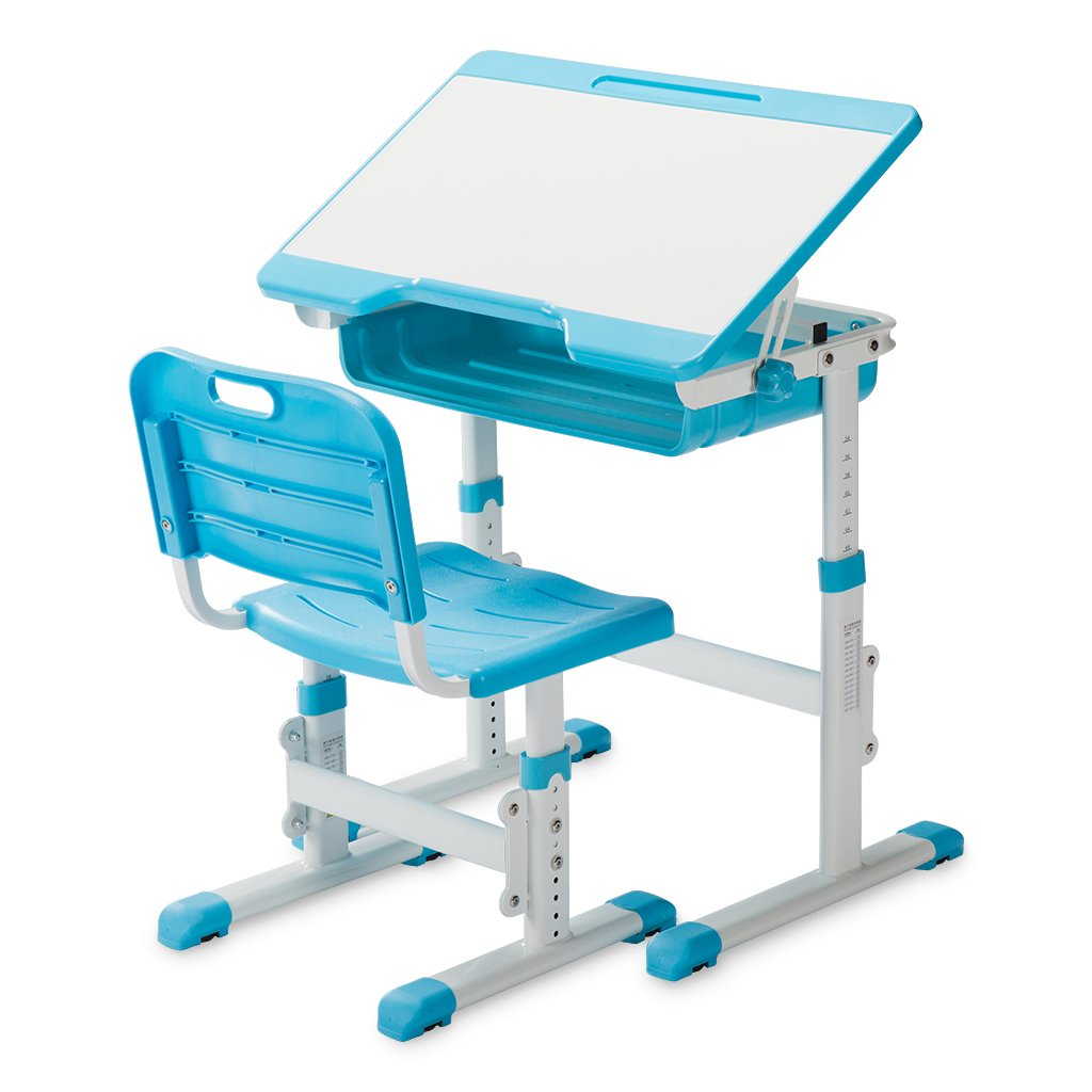 Slypnos Ergonomic Adjustable Children's Desk and Comfortable Chair Set Specially Designed for Children Age 3-14, Blue by Slypnos (Image #1)