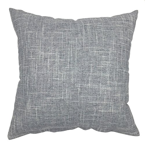YOUR SMILE Solid Grey Square Cotton Linen Decorative Throw P