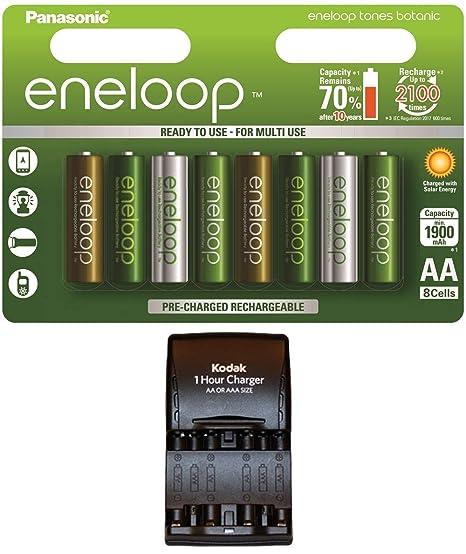 Panasonic Eneloop Botanic - Pilas AA Recargables de 1900 mAh ...