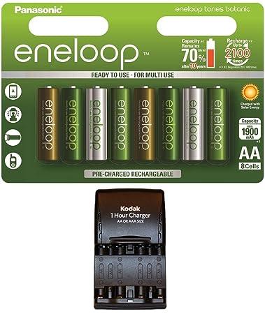 Amazon.com: Panasonic Eneloop Botanic AA - Pilas recargables ...