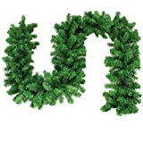 Christmas Garland with Lights for Decoration Christmas Holiday Decor Christmas Gifts 2.7M (Bare)