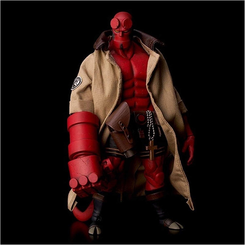 WANGSHAOFENG Hell Baron 2 Hellboy Super Modable Muñeca Modelo de Juguete Comic Ver Figura de acción Regalos para niños Spiderman Negro