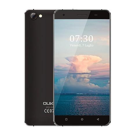 OUKITEL C5 Smartphone Libre 3G de 5.0HD (FDD-LTE, Android 7.0, 5.0MP+2.0MP cámaras, 16GB ROM+ 2GB RAM, MTK6580 quad-core 1.3GHZ), negro