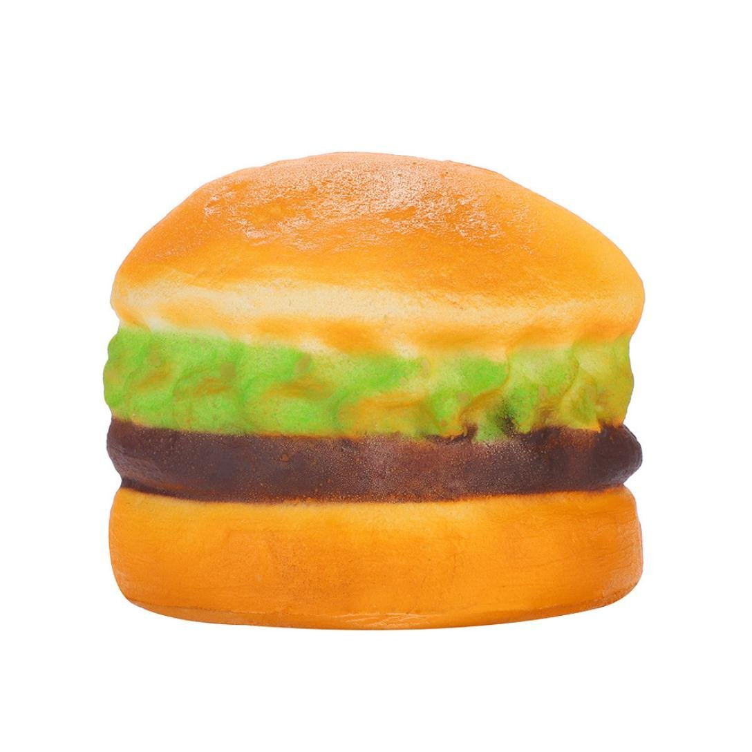 callm Slow Rising Squishies Hamburger Marshroom Man Milk Tea Kawaii Mini Squishies Cream Scented Charms Stress Reliever Toys for Kids and Adults (hamburger)