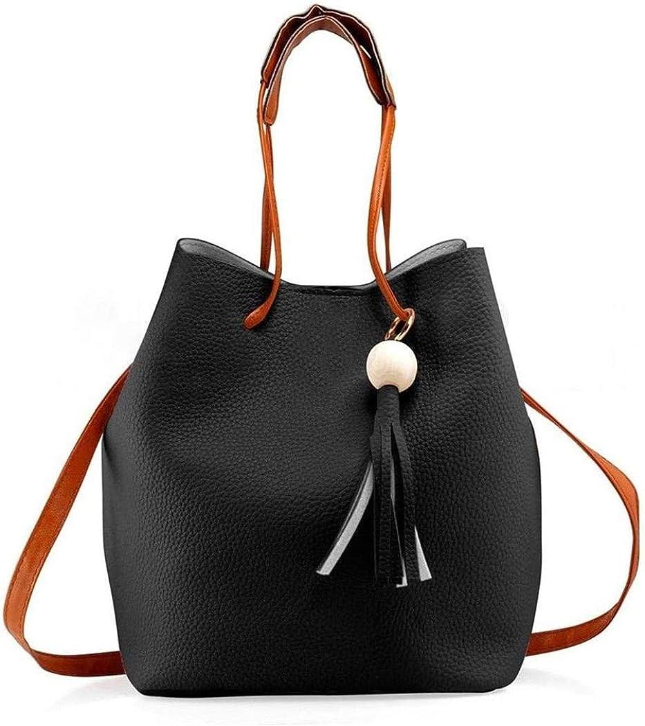 Acquaintant Women Fashion PU Leather Tassel Shoulder Bag Mobile Phone Clutch Set Shoulder Bags