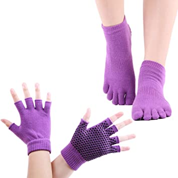 Amazon.com: Yoga Socks and Gloves for Women, Non-Slip ...