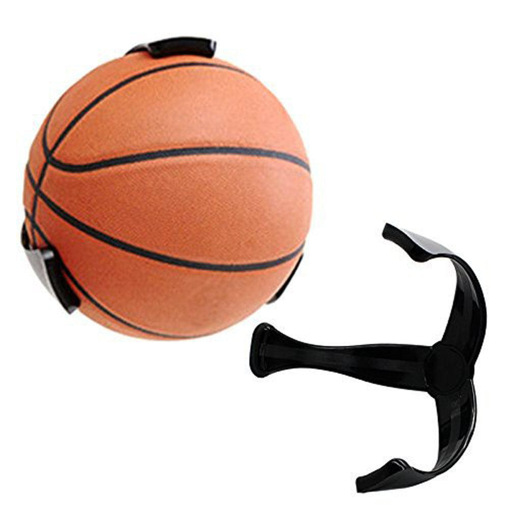 MinZStore World Cup 2018 Space Saver Basketball Soccer Ball Claw, Wall Mount Holder for Ball Basketball Bracket