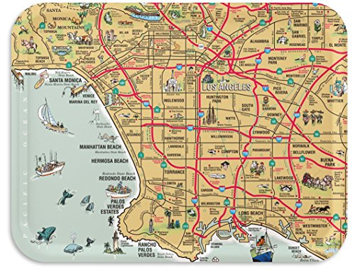 Los Angeles Map Tray / TV Dinner Tray, Decorative Serving Tray, 17