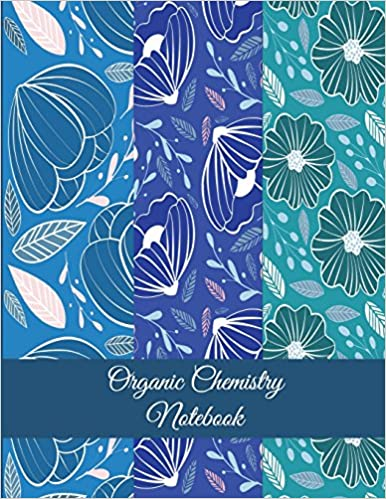Organic Chemistry Notebook Blue Colorful Floral 1 4 Inch Hexagons