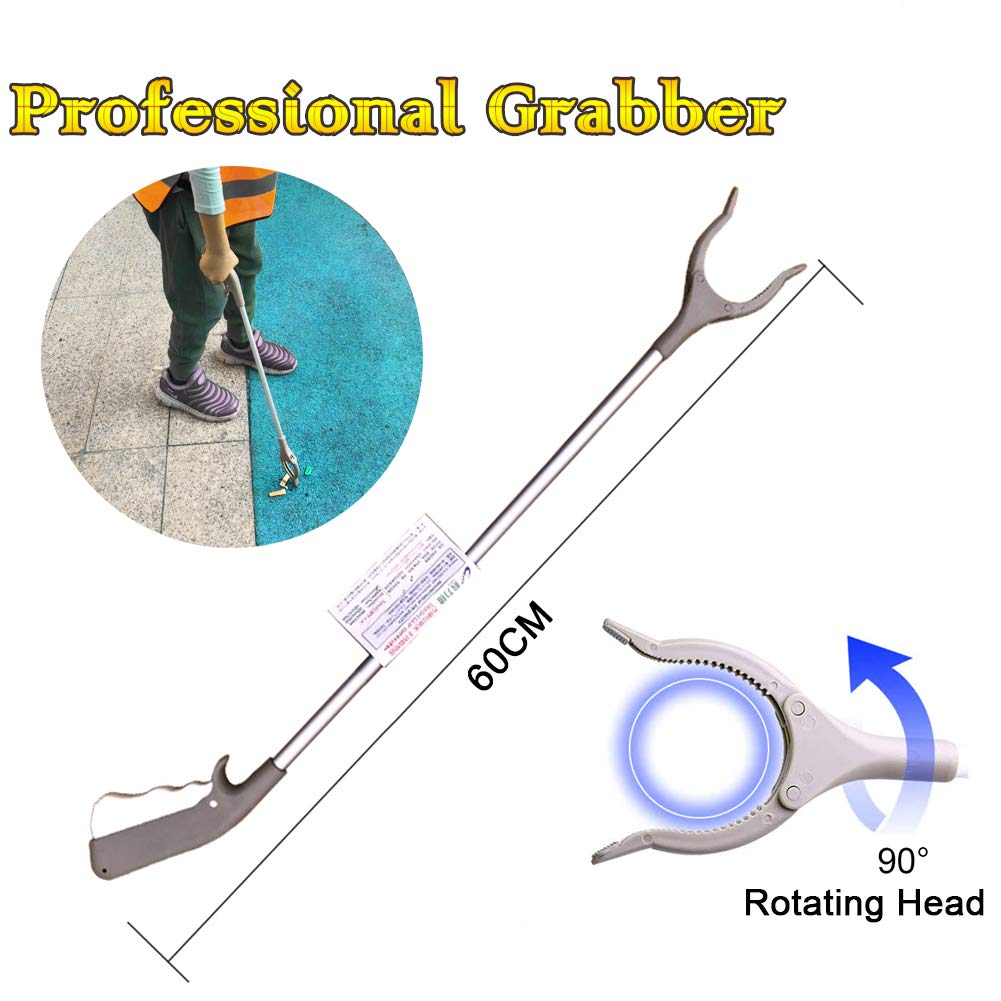 Ouronehome Professional Extra Long Reacher Grabber Tool and Trash Picker Claw Grabber Lightweight Arm Extension Garden Nabber (1, 23-inch): Industrial & Scientific