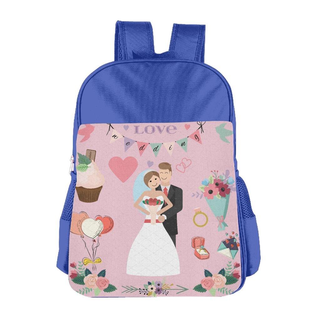 Wedding Couple Kids Backpack For Boys Girls Fit School Backpack