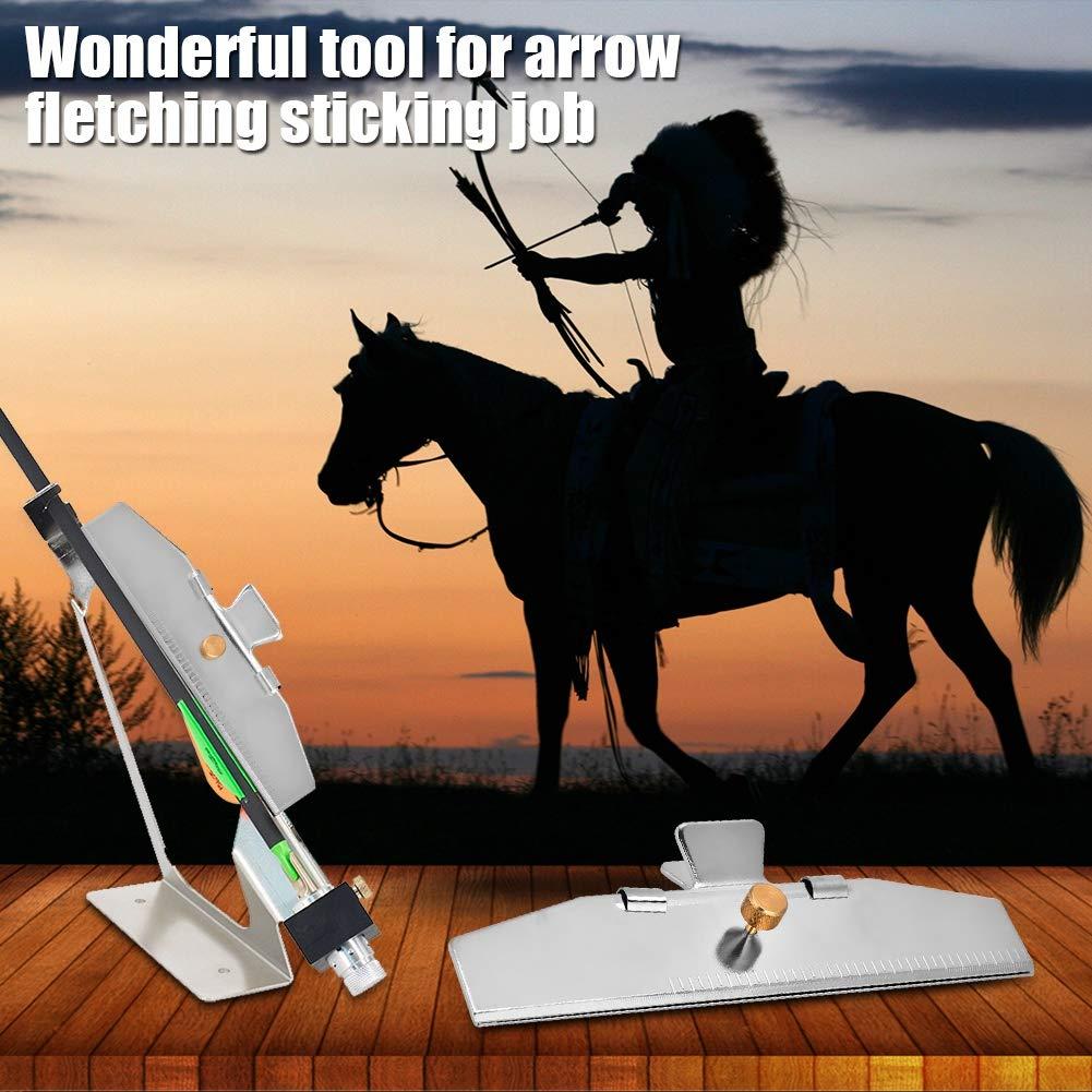 Adjustable Durable Heavy Duty Fletching Jig Clamp for DIY Archery Arrows Fletching Jig