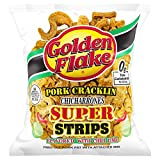 Golden Flake Pork Cracklin Chicharrones Super Strips 3.25oz, pack of 1