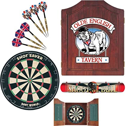 Image of Cabinets Dart World 47991 Bull Dog Darts Cabinet Kit