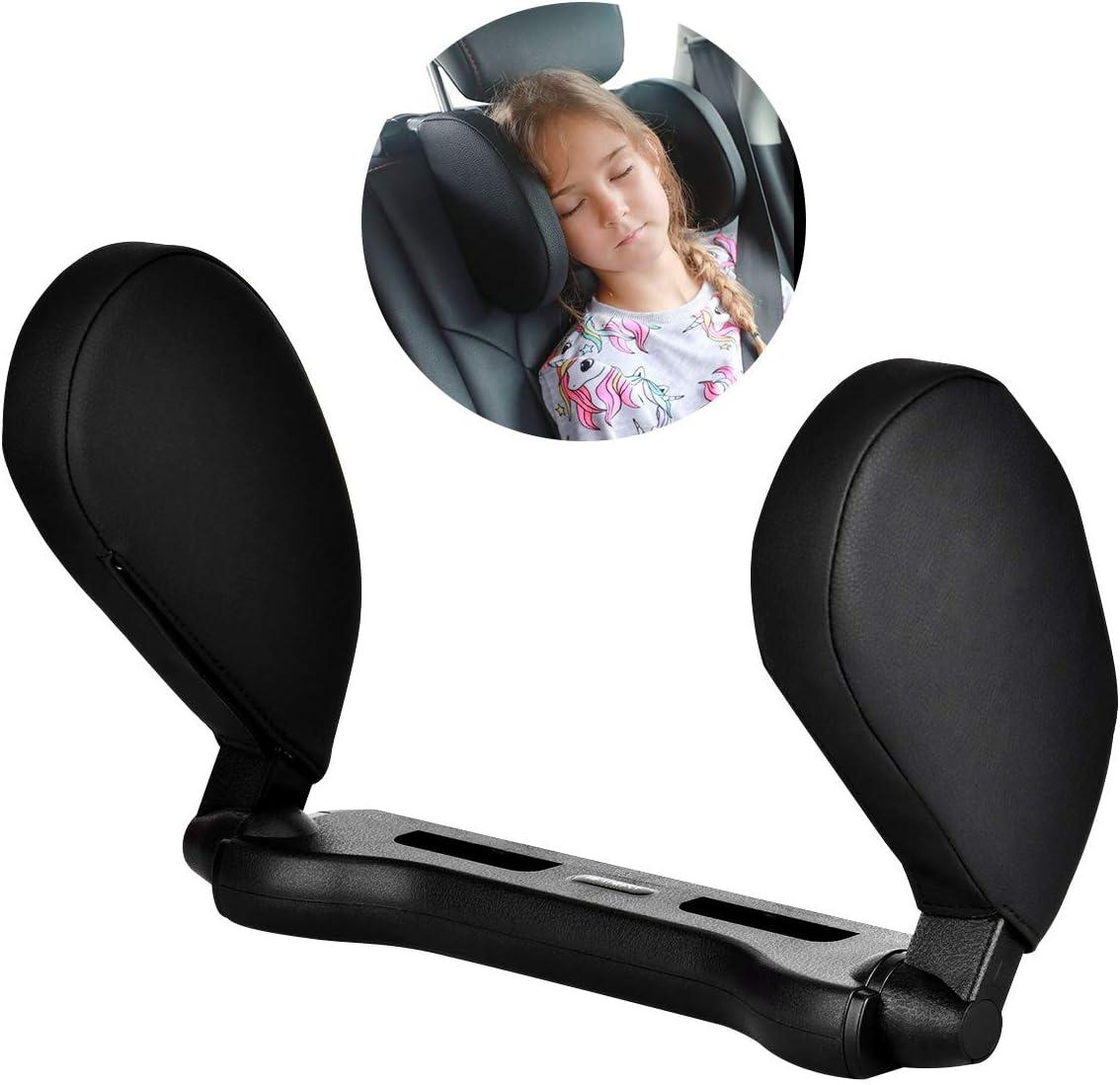 Cozywind Reposacabezas Coche,Ajustable para el Cuello, Cuello Almohada de Viaje para Asiento de Automóvil para Adultos y Niños (Negro)