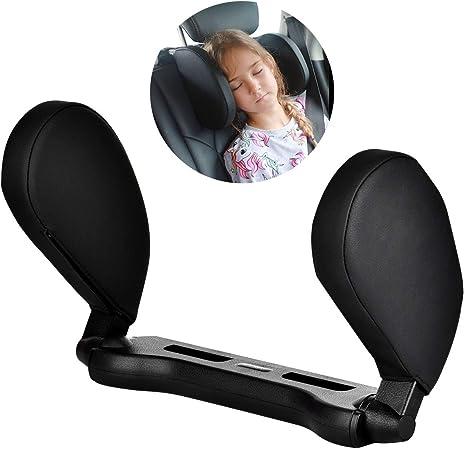 coussin de t/ête de conception ergonomique en mousse /à m/émoire de forme respirante pour le conducteur Coussin dappui-t/ête de si/ège de voiture oreiller de soutien du cou 30x36cm, Noir