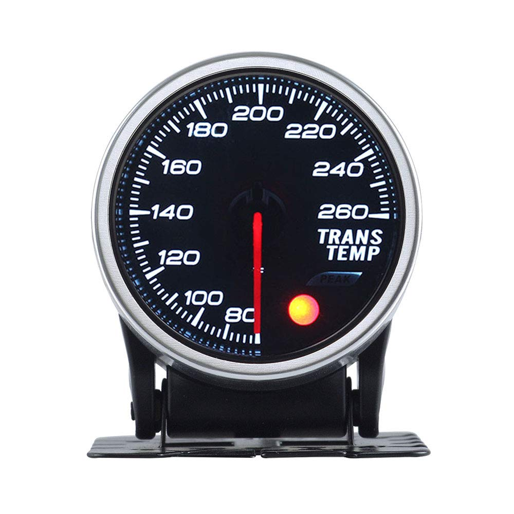 KET 2inch Smoke Lens Analog Gearbox Temp Gauge Transmission Temp Gauge 80-260 Fahrenheit Universal for Car
