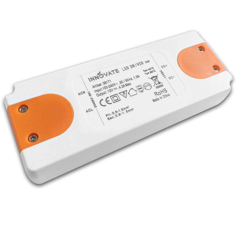 INNOVATE LED Trafo ECO 12 Volt/DC, 0-50W - LED Treiber - Transformator - Netzteil - Driver (12 Volt - 50 Watt)