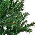Goplus Artificial Unlit Christmas Tree Auto-spread/ close up Premium Spruce Hinged Full Tree with Solid Metal Stand for Outdoor & Indoor
