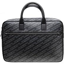 Emporio Armani Logo Print Mens Briefcase Black