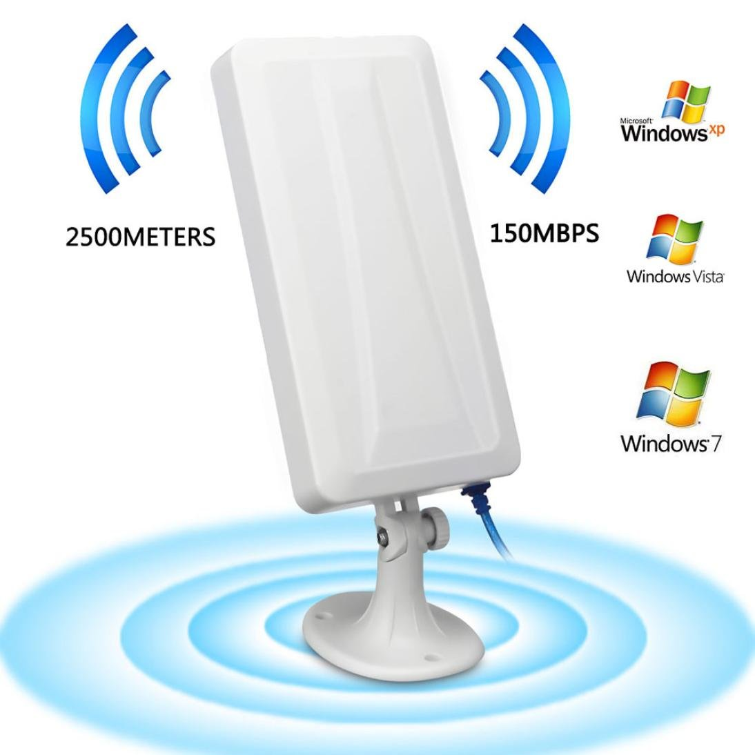 2500M WiFi Long Range Extender Wireless Router Repeater Antenna Booster for home
