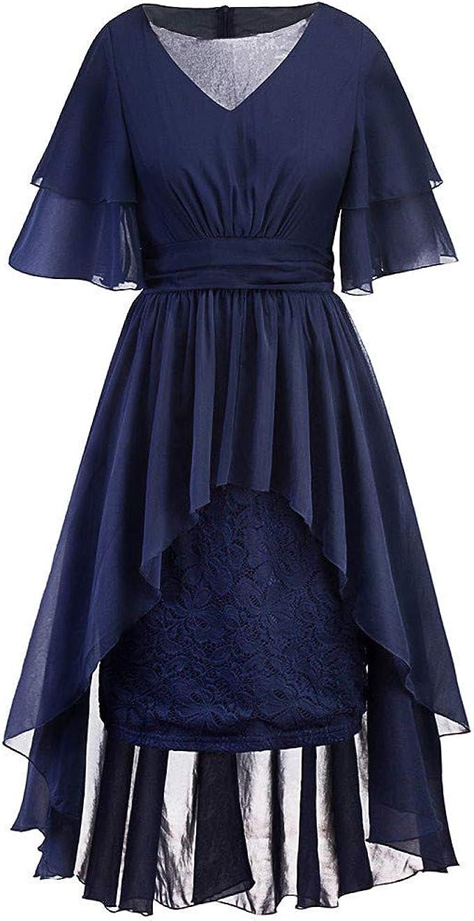 Zegeey Damen Abendkleid Cocktailkleid GroßE GrößEn Vintage Spitze