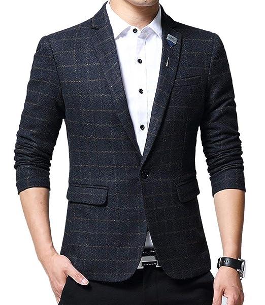 Chaqueta De Traje De Moda Slim Fit De Blazer Tweed Esencial ...
