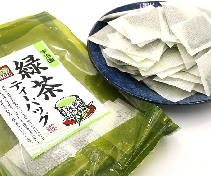 国産 緑茶 お茶 ティーバッグ 業務用 2g × 100パック入り 宇治園の緑茶 煎茶 徳用 タイプ
