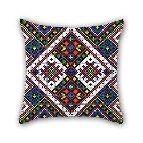 NICEPLW Bohemian Throw Cushion Covers 16 X 16 Inches / 40 By 40 Cm Gift Or Decor For Gril Friend,kids Room,bf,him,car Seat,couples - Each Side (Cricket Combs 35)