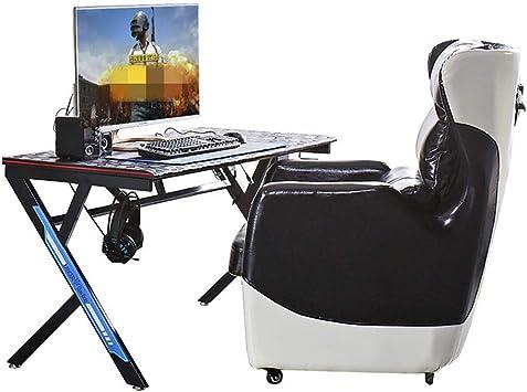 Escritorio para Juegos Tabla Competencia eléctrico Office Cafe Tabla PC de Escritorio, Mesa de Juego casero del Internet Mesa para Gaming (Color : Black, Size : 800x570x720mm): Amazon.es: Hogar