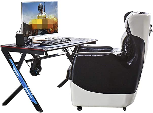 Escritorio para Juegos Tabla Competencia eléctrico Office Cafe Tabla PC de Escritorio, Mesa de Juego casero del Internet Mesa para Gaming (Color : Black, Size : 800x570x720mm): Amazon.es: Hogar
