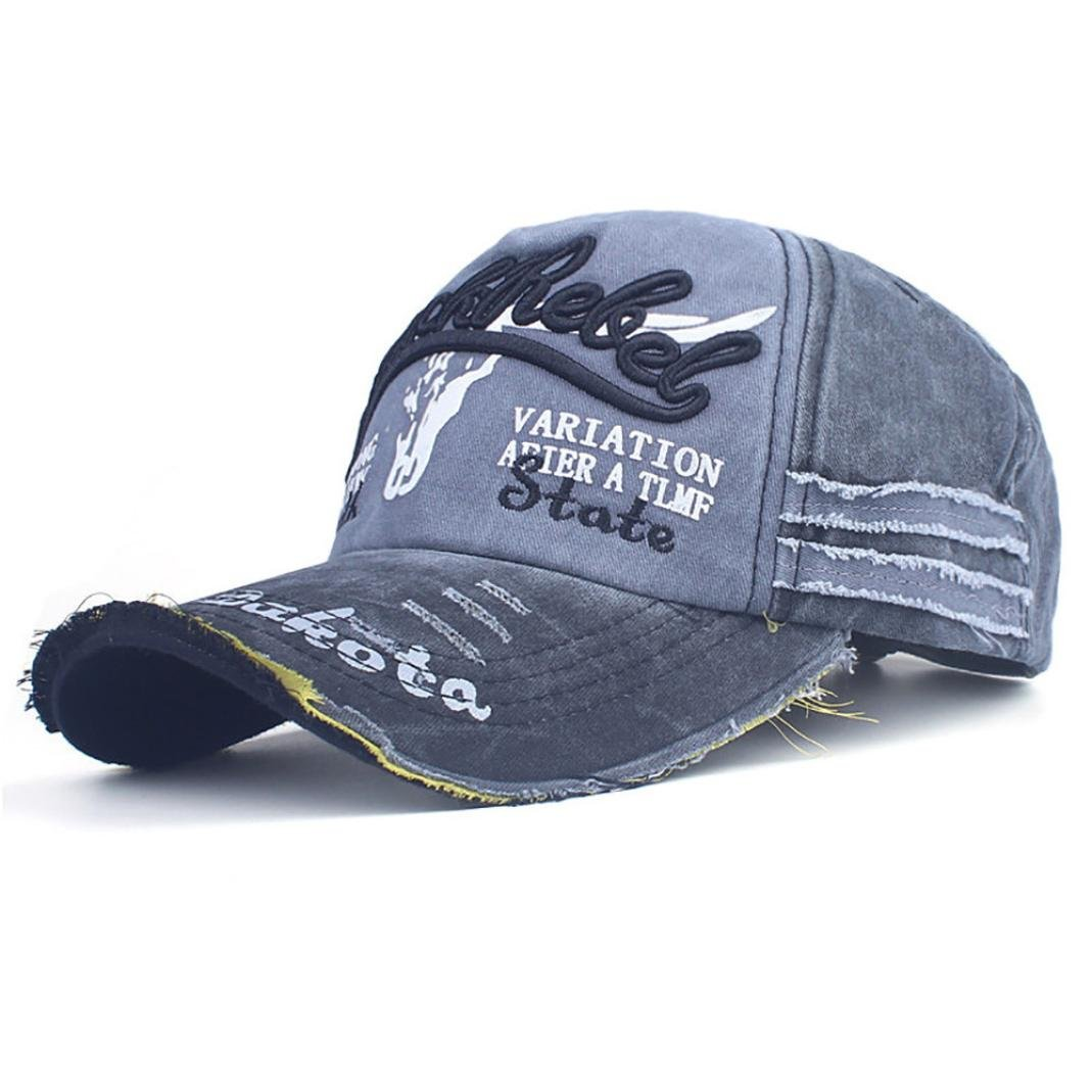 0af866bbf2e45 Amazon.com  Shybuy Trucker Style Baseball Cap Hat Women Mens Vintage  Distressed Hats Hip Cap (A
