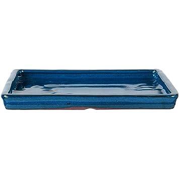 Bandeja de goteo para bonsai macetas 20 x 15,5 x 2 cm azul Rectangular