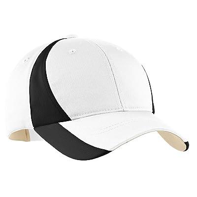 Sport-Tek Colorblock Performance Cap, OSFA, White/Black