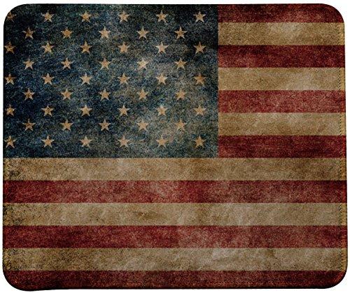 Retro Style USA Flag Mouse Pad by VIVIPOW (TM) (Retro USA)