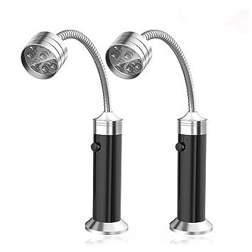 Xrten 2 Pcs Parrilla LED Luces con Base magnética y Flexible Cuello 360 ° Rotación para Barbacoa, Camping, Fiesta, Leer, BBQ ect